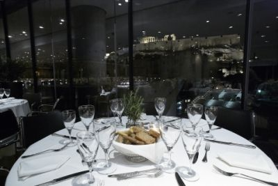 Every Friday, the Museum restaurant on the second floor is open until 12 midnight offering special gourmet choices and beautiful night views of the Acropolis. Cafe & Restaurant | Acropolis Museum