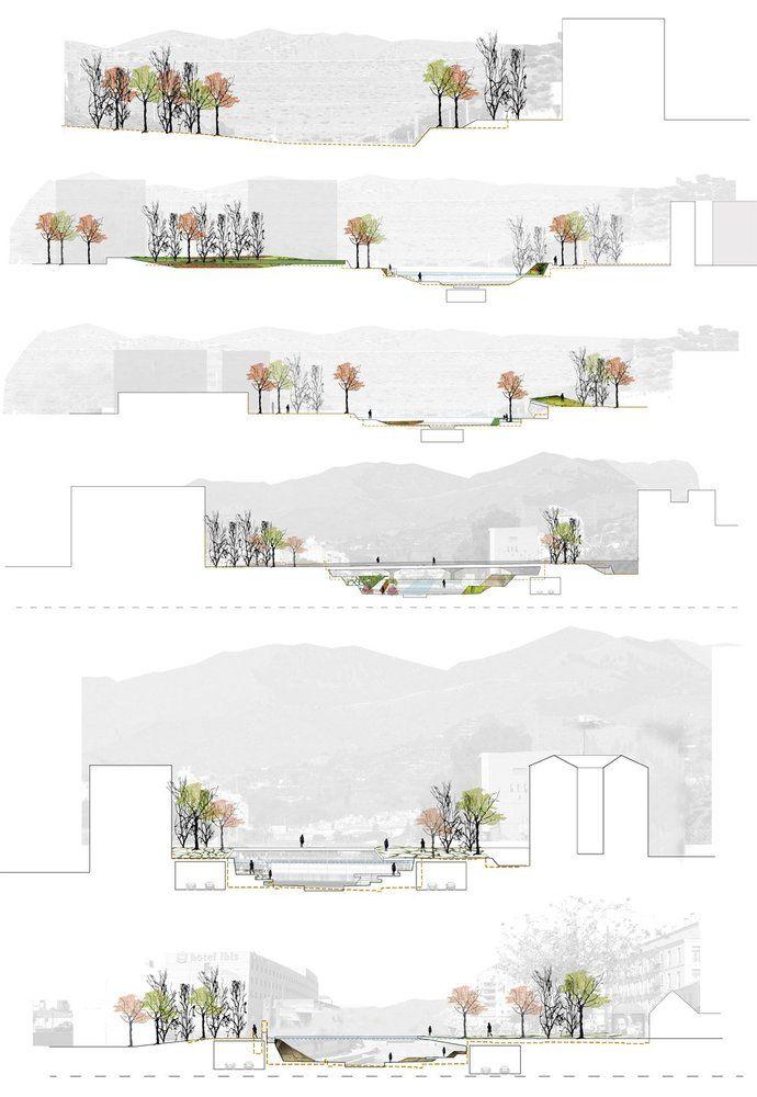 Galería de Segundo Lugar Concurso De Ideas Para La Integración Urbana Del Río Guadalmedina - 3