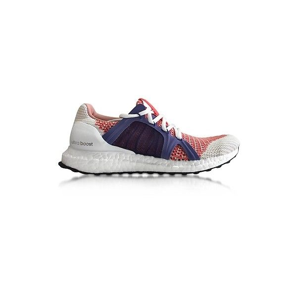 Adidas Stella McCartney Shoes Bright Red and Plum Ultra Boost Women's... (300 BAM) ❤ liked on Polyvore featuring shoes, sneakers, red, bright colored sneakers, red sneakers, plum shoes, round cap and bright sneakers