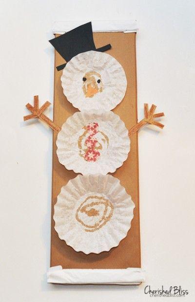 Fabric Bolt Snowman - Fun Family Crafts