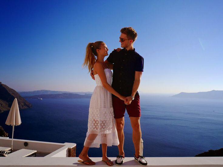 Niomi Smart and Marcus Butler in Santorini