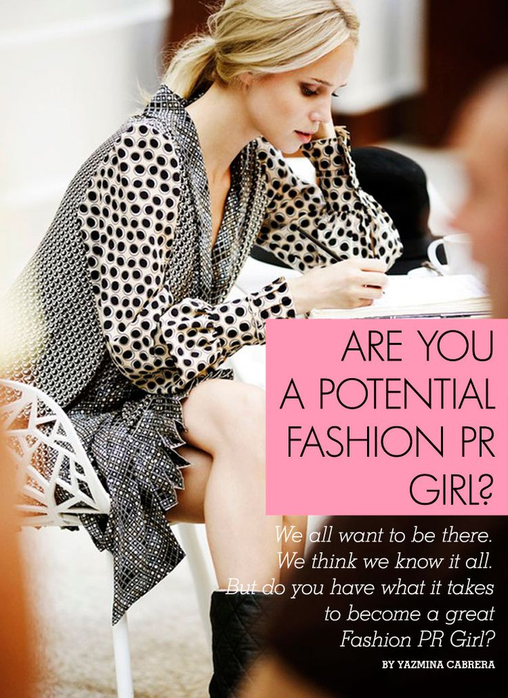 Are you a Potential Fashion PR Girl? Visit Girl with a Banjo every day this week to discover if you have what it takes!