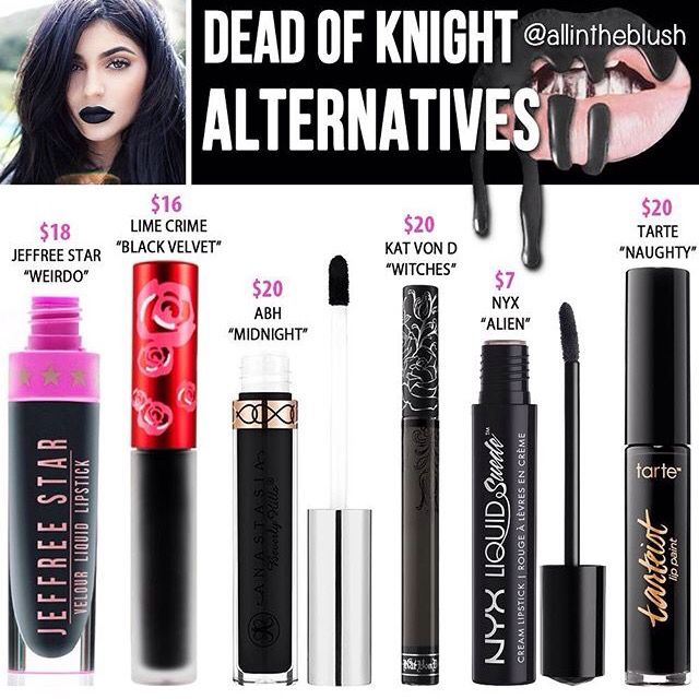 Kylie Jenner lip kit dupe Dead of knight