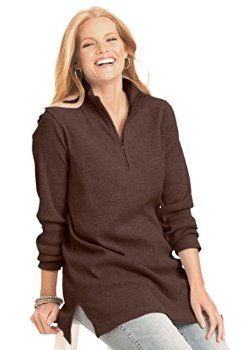 Plus Size Top, Tunic In Soft Rib Knit