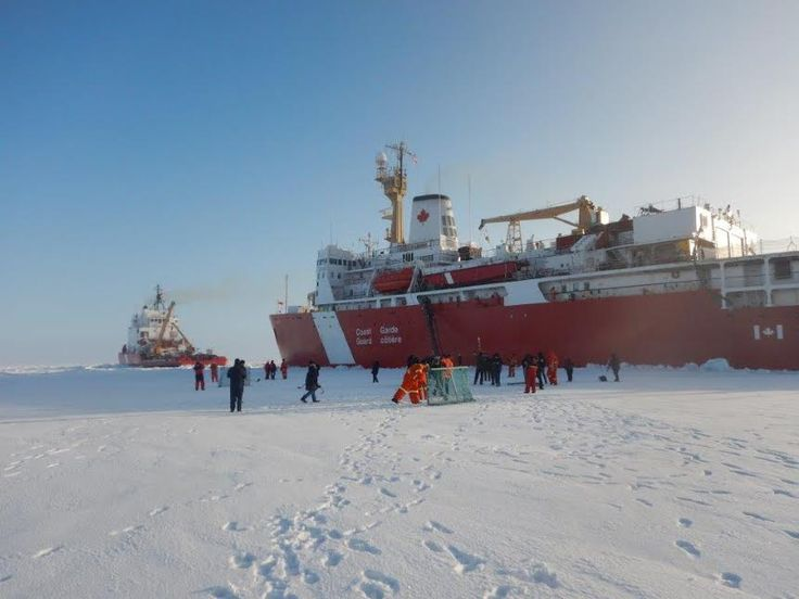 Two Canadian Coast Guard cutters reached the North pole today. And marked the occasion as any Canadian would.