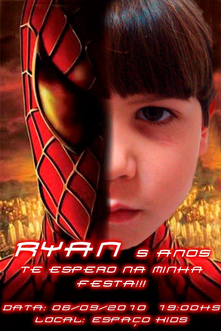convites aniversario homem aranha