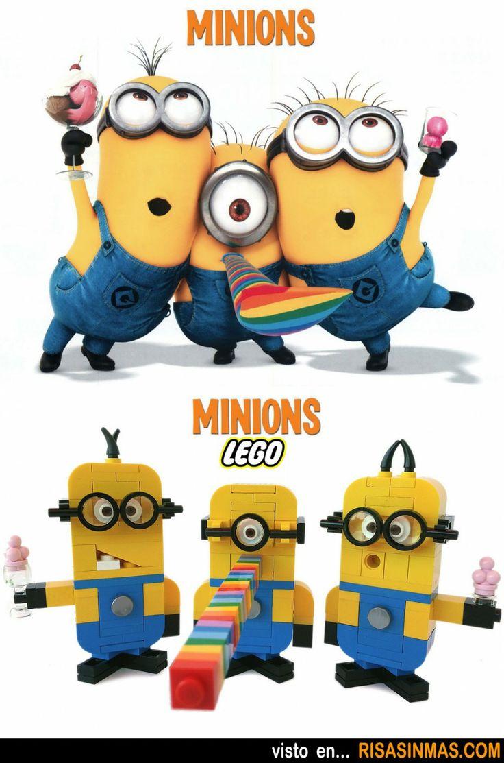 Parecidos razonables: Minions y Minions LEGO.