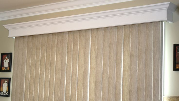 pinterest vertical blinds and crown mold valance - Google Search