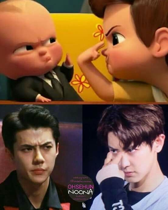 I see no difference #sehun #chanyeol
