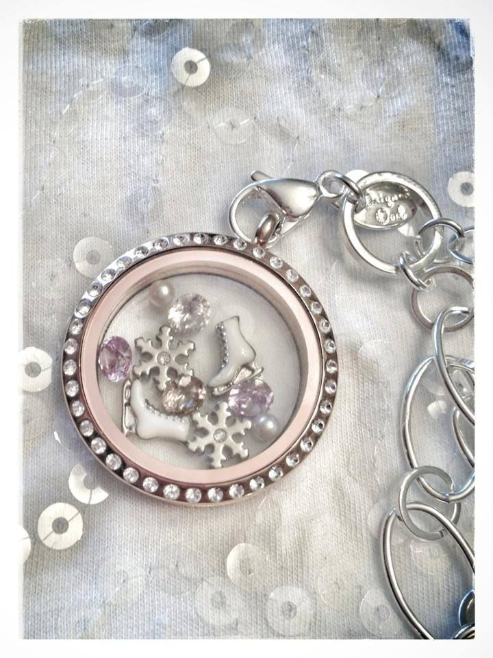 Ice Skating living locket www.SouthHillDesigns.com/jewelry www.BellaCharms.weebly.com