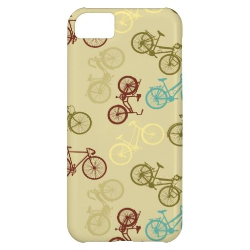 Bike silhouettes pattern iPhone 5C case