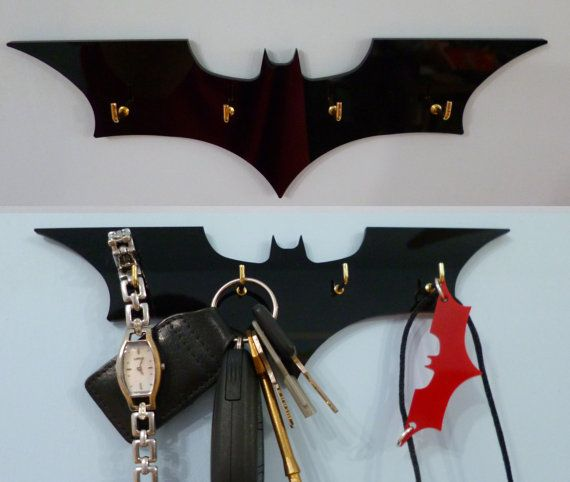 Hey, I found this really awesome Etsy listing at http://www.etsy.com/listing/128393589/batman-key-rack-jewellery-organiser
