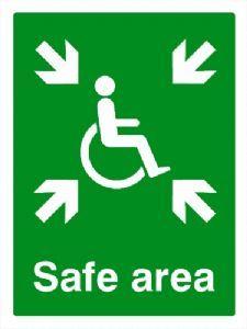 DDA Safe area safety sign