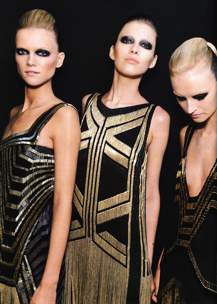 Art deco fashion - predominant bold shapes