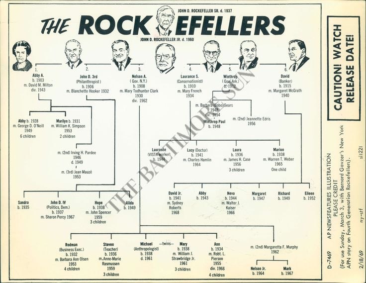 Risultati immagini per genealogical tree of house rockefeller