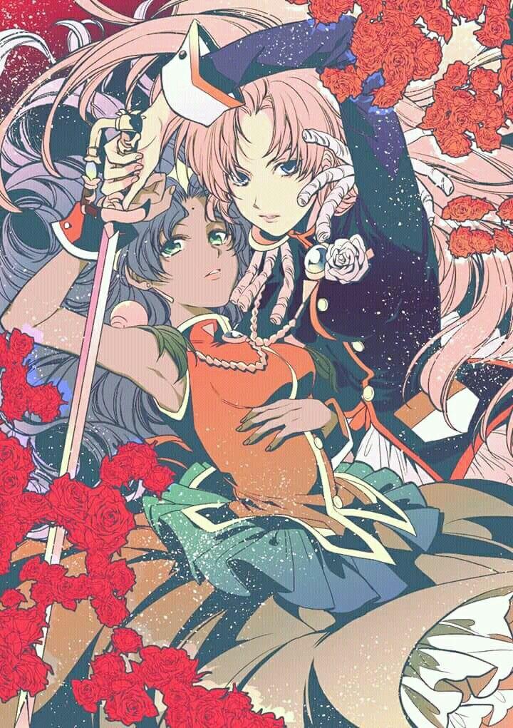 Anthy And Utena Romantic Anime Anime Revolutionary Girl Utena