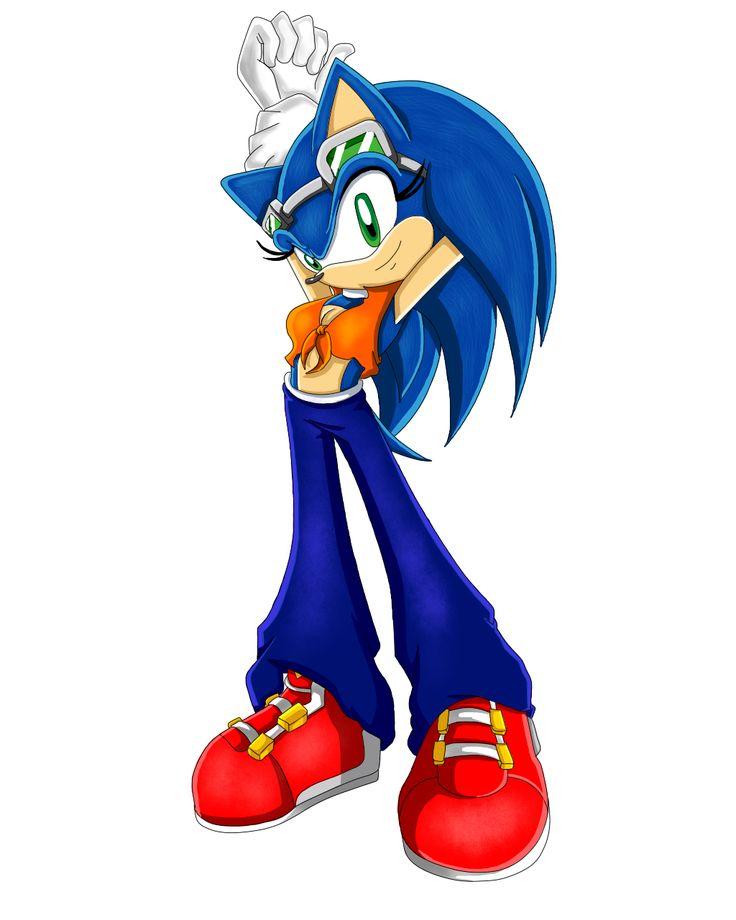Sonic the Hedgehog Gender Bender by Sorikku za Hejjihoggu.    Soric the Hedgehog [SRConceptArt]