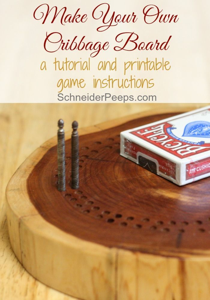 Our son made us a cribbage board from a cedar log for Christmas a few years ago; it's quickly becoming a family heirloom. If you're looking for an inexpensive and meaningful gift, consider making cribbage boards. The article has a tutorial and game instructions.