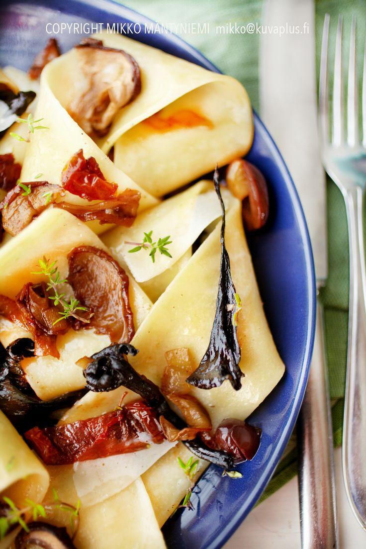 Mushroom pasta. Sienipasta.
