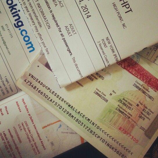US trip. Getting ready. Visa good. Firdt bookings.