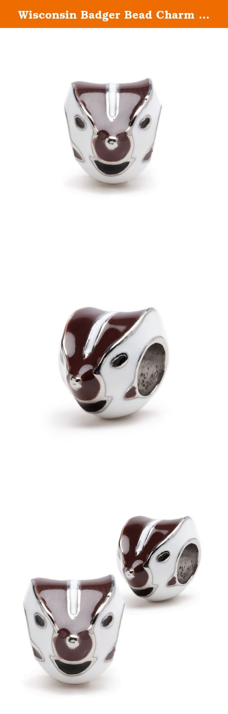 Wisconsin Badger Bead Charm Set of Two - Stainless Steel. Gear up for the game! This bead charm set includes two stainless steel Wisconsin Badgers bead charms that will not rust or tarnish. Lifetime guarantee. Fits most charm bracelets including Pandora, Chamilia, and Stone Armory or can be worn on a necklace. Officially licensed by University of Wisconsin. Ships with in 24 business hours from Cleveland, OH.