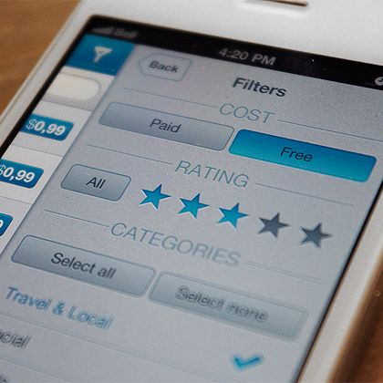 #mobile app filters