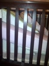 The 15 degree wedge can be placed on top of the mattress and with the stability tabs attached to the rails at the head of the crib.  The mattress can be left flat for a 15 degree height or the head of the mattress can be lifted to a height of your choosing.  By placing our 30 degree wedge under the mattress with the 15 degree secured on top of the mattress the baby comfortably and safely achieves a 30 degree elevation for a good nights sleep.