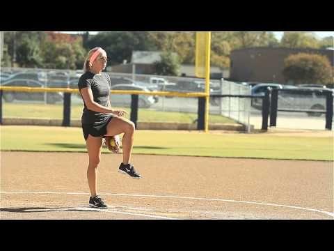 Softball Pitching Tips: Generating leg power - Amanda Scarborough - YouTube