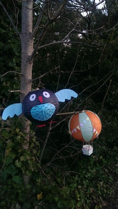 Belgrave Lantern Festival for winter solstice! Our lanterns.. an owl and a hot air balloon.
