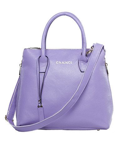 Love this Purple Leather Satchel by Cannci on #zulily! #zulilyfindshttp://www.zulily.com/invite/aa7464