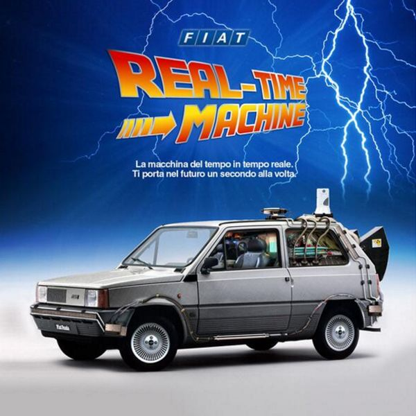 BACK TO THE FUTURE: Check out this European Fiat Panda ad from 1985,the year Marty Mcfly went back to the future! #BVReesLtd #backtothefuture