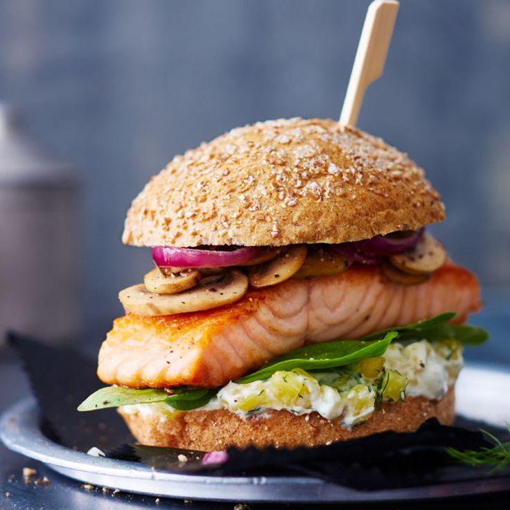 Lachs-Ananas-Burger Rezept   Weight Watchers