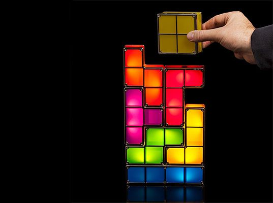 Tetris LED stackable light I remembered my days playing Tetris like crazy on Nintendo Game Boy... :)