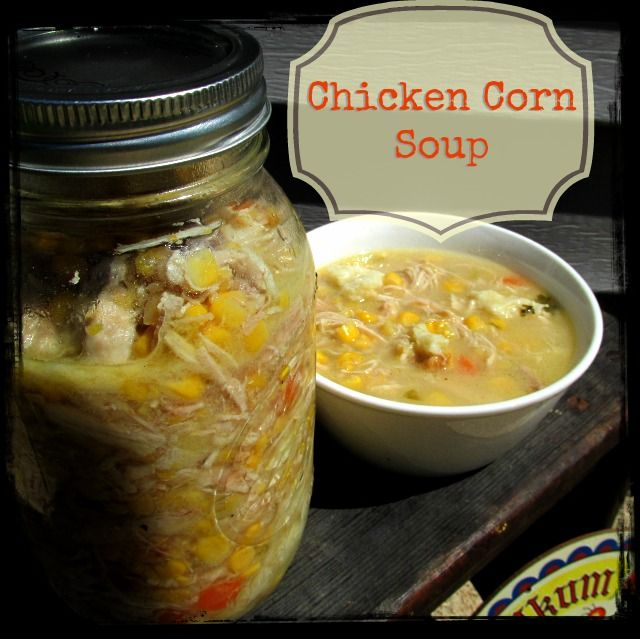 Pennsylvanian Dutch Chicken Corn Soup Recipe:  4-5lb Whole  Chicken 10c water or  Chicken Broth 2 stalks  celery with leaves, diced 1 Med Onion, diced 2  Carrots, diced a handful Parsley, chopped 1tsp Pepper 2 Can corn & 1 can cream corn or 8 ears of organic sweet corn (cut corn off cob) Rivels 1c Flour Salt & Pepper Egg 1Tlbsp Milk