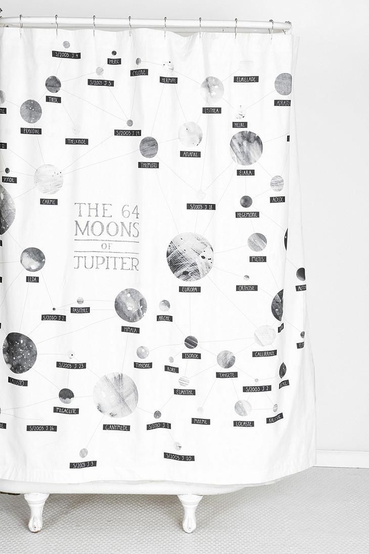 Boy bathroom shower curtains - Moons Of Jupiter Shower Curtain Urbanoutfitters Bathroom Shower Curtainsboy