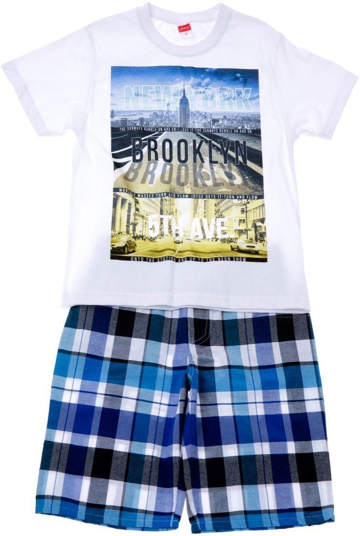 Joyce παιδικό σετ μπλούζα-παντελόνι βερμούδα «New York» - Παιδικά ρούχα AZshop.gr