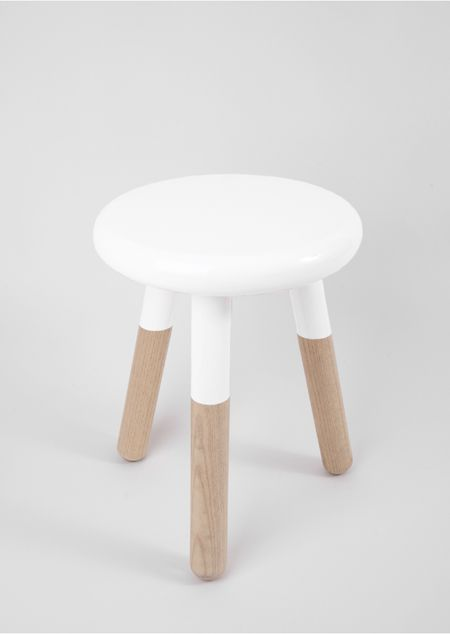 THREE LEGGED STOOL WHITE Pictures Gallery