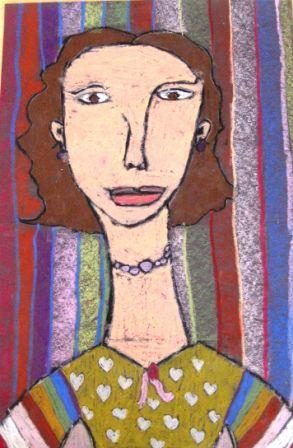 Modigliani Self-Portraits in Grade Three | Art Lessons For Kids