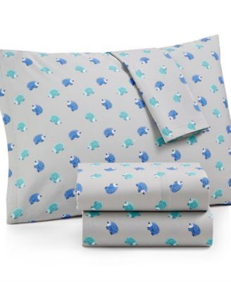 Whim by Martha Stewart Collection Novelty Print Cotton Percale Percale Twin Sheet Set, Only at Macy's | macys.com