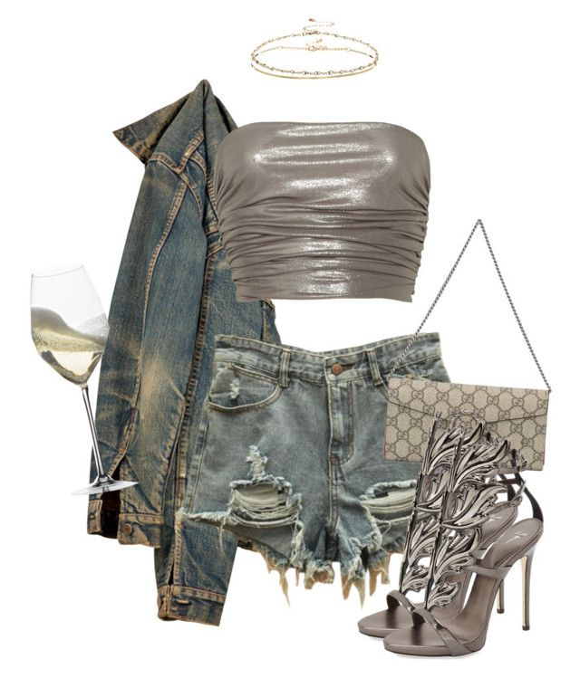"""""""Untitled #3830"""" by xirix ❤ liked on Polyvore featuring Missoni, Gucci, Giuseppe Zanotti, Riedel and ASOS"""
