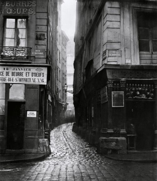 charles marville, rue tirechappe, from rue saint-honoré, paris, 1858-78
