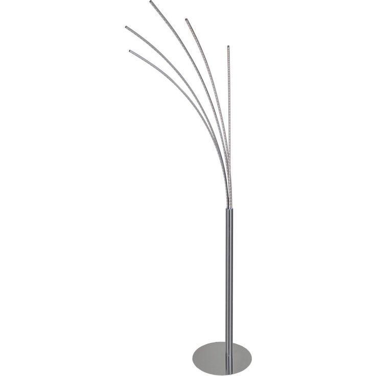 Wofi LED-Stehleuchte Benett 5-flammig Chrom EEK: A Jetzt bestellen unter: https://moebel.ladendirekt.de/lampen/stehlampen/standleuchten/?uid=c6c4ba7b-a443-5b02-be9b-c6057c221aa6&utm_source=pinterest&utm_medium=pin&utm_campaign=boards #stehlampen #leuchten #lampen #wohnen>lampen Bild Quelle: obi.de