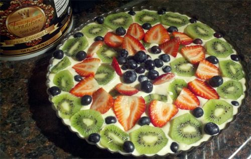 No Bake Fruit Tart with coconut oil recipe photo