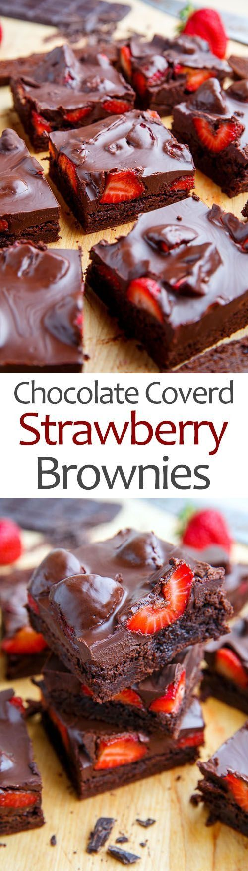 Chocolate covered strawberries + brownies = Valentine's Day for the win!