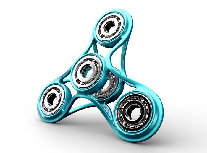 FATTY - fidget spinner - a 3D model by STG | VECTARY    fidget spinner, hand spinner, free 3D model, 3D printing, render, finger spinner, toy