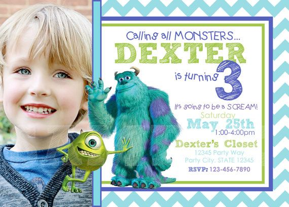 d7e6fa9f4f7d0da5c4a65645197387d9 monsters inc invitations photo invitations 60 best images about aiden monsters inc birthday party on pinterest,Monsters Inc Birthday Invitations