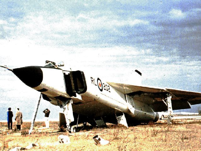 "Avro Arrow (RL-202) (in ""distress"" after landing)"