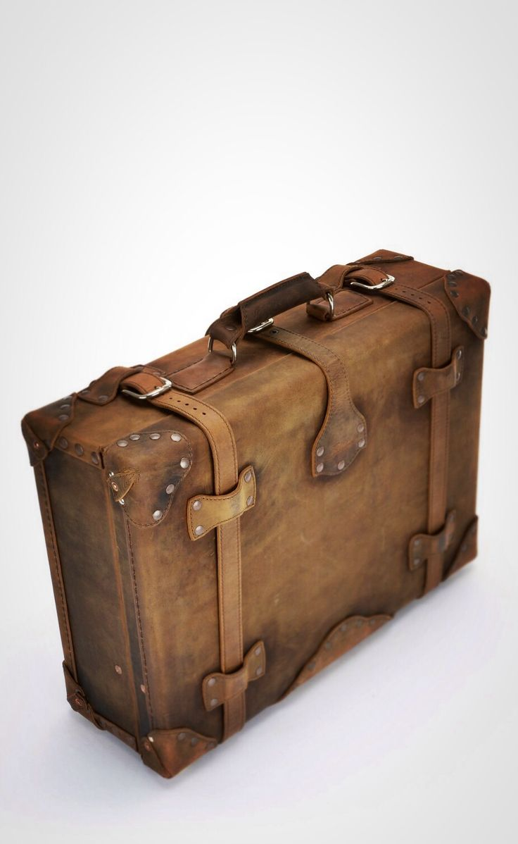 For Travel and Decoration | Saddleback Leather Suitcase in Tobacco | 100 Year Warranty | $1,055.00