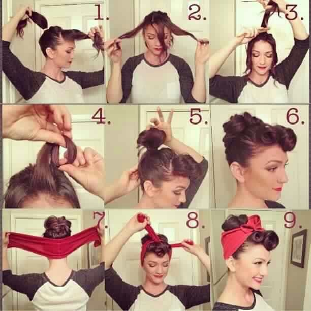 How to do a vintage up do.