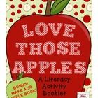 This is a FUN apple themed booklet for students to practice a variety of skills including:  - labelling a diagram  - sorting and classifying  - recognizing homophones  - rhyming   - alphabetical order  - sequencing  - word recognition  AND MORE!  As a BONUS, I have included instructions and resources for making an apple booklet and/or 3D apple. #literacy, #English, #language arts, #grade 3, #sequencing, #alphabetical order, #apples, #love, #activities, #3D, #booklet, #rhyming, #crossword